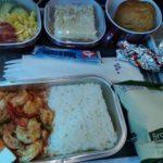 ANAビジネスクラスよりタイ航空エコノミークラスの機内食がおいしくてワロた。