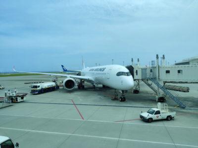 那覇国際空港のJALのA350
